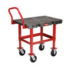 "Rubbermaid FG447200BLA Work-Height Platform Truck - 24x36"" 2000-lb Capacity, 6"" Castors, Black"