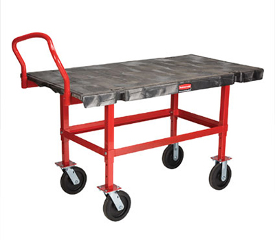 "Rubbermaid FG447400BLA Work-Height Platform Truck - 30x60"" 2000-lb Capacity, 8"" Castors, Black"