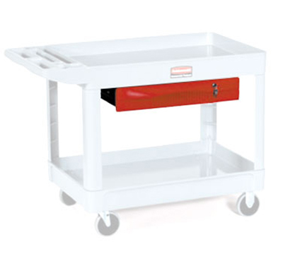 Rubbermaid FG459300 RED Single Full-Extension Drawer - (4520-88) (4546) Red