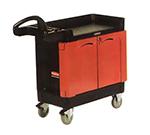 """Rubbermaid FG451288 BLA TradeMaster Mobile Cabinet - 2-Door, 500-lb Capacity, 5"""" Castors, Black"""