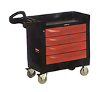 "Rubbermaid FG451388 BLA TradeMaster Mobile Cabinet - 4-Drawer, 500-lb Capacity, 5"" Castors, Black"
