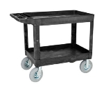 "Rubbermaid FG452010 BLA Heavy Duty Utility Cart - 2-Shelf, 500-lb Capacity, 8"" Castors, Black"