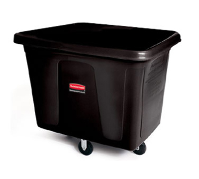 Rubbermaid FG461900RED Cube Truck - 20 cu ft, 600-lb Capacity, Red