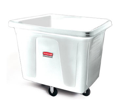 Rubbermaid FG461600 WHT Cube Truck - 16 cu ft, 500-lb Capacity, White