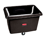 Rubbermaid FG461800 BLA Spring Platform Truck - 20cu ft, 600-lb Capacity, Black