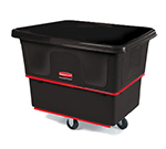 Rubbermaid FG471200 BLA .4-cu yd Trash Cart w/ 800-lb Capacity, Black