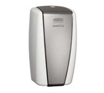 """Rubbermaid 4870486 SaniCell Wall Service Dispenser - 3x5-1/5x7-3/5"""" White/Gray"""