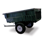 "Rubbermaid FG566361 BLA Tractor Cart - 15 cu ft Capacity, 25x60x39-1/4"" Black"