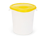 """Rubbermaid FG573000 NAT 13-1/2"""" Round Storage Container Lid - Natural"""