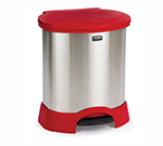 Rubbermaid FG614687 RED 23-gal Step-On Container - Heavy-Duty Pedal, Red