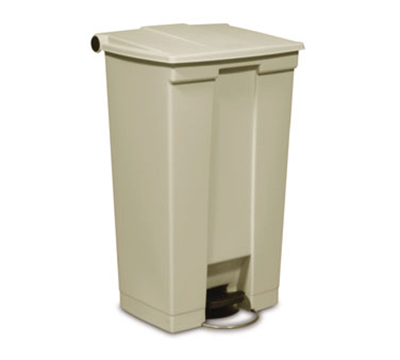 Rubbermaid FG614600YEL 23-gal Step-On Container - Heavy-Duty Pedal, Yellow