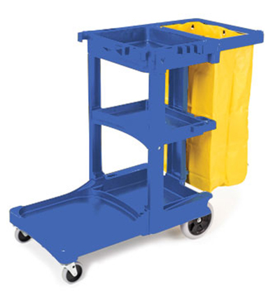 Rubbermaid FG617388 BLUE Cleaning Cart - 46x21-3/4x38-3/8
