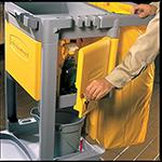 Rubbermaid FG618100 YEL Locking Cabinet - Janitor Cart