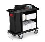 Rubbermaid FG619000 BLA Compact Housekeeping Cart - Black
