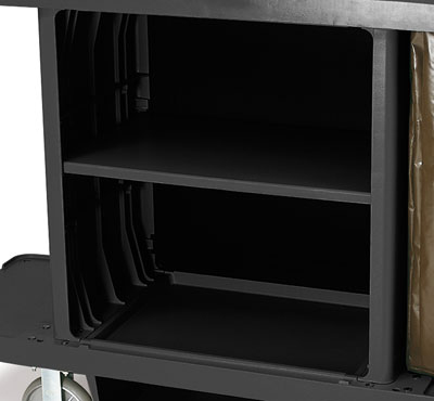 Rubbermaid FG619500 BLA Adjustable Shelf Kit - Housekeeping Cart
