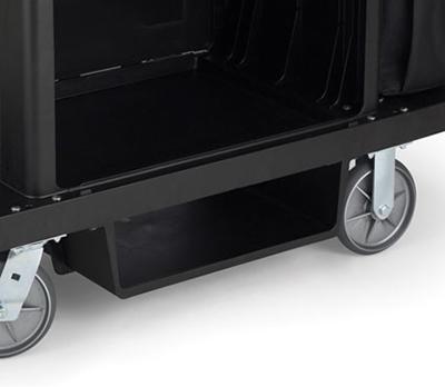 Rubbermaid FG619600 BLA Glass Rack - Housekeeping Cart