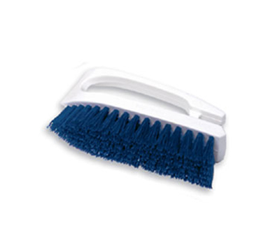"Rubbermaid FG648200COBLT 6"" Hand Scrub Brush - Iron/Poly Cobalt"