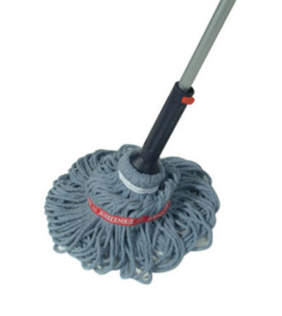 Rubbermaid FG6A8800 54 in L Twist Mop Self Wringing Double Tailbands to Prevent Tangling Restaurant Supply