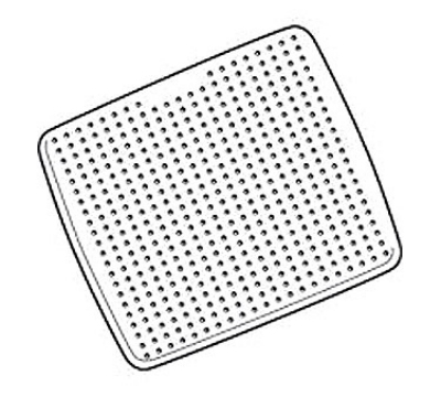 "Rubbermaid FG711204 WHT 22-1/4"" Square Safti-Grip Bathmat - Suction-Backed, White"