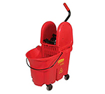 Rubbermaid FG757888 RED WaveBrake Specialty Mopping Combo, 35 qt Bucket Capacity, 7575-88 Wringer, Red