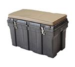 """Rubbermaid FG772000 BLA Tack Box - 24x36x24"""" Structural Foam, Black"""