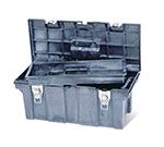 """Rubbermaid FG780200 BLA Tool Box - Removable Trays, 26x11-1/2x11-1/8"""" Black"""