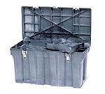 """Rubbermaid FG780400 BLA Tool Box - Removable Trays, 36x18-5/8x20-3/16"""" Black"""