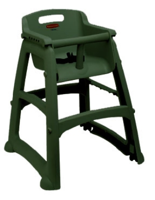 Rubbermaid FG781408DGRN Youth Seat - Harness, Stackable, Dark Green