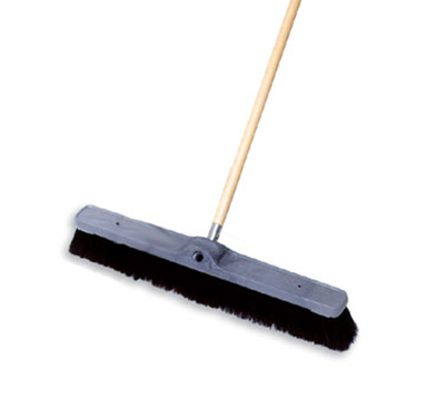"Rubbermaid FG9B0100 BLA 18"" Floor Sweep - Fine, Plastic/Tampico, Gray"