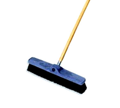 "Rubbermaid FG9B0700 BLA 18"" Floor Sweep - Medium, Plastic/Tampico, Black"