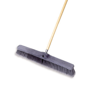 "Rubbermaid FG9B1100 GRAY 24"" Floor Sweep - Medium, Plastic/Poly, Gray"