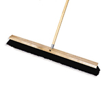 "Rubbermaid FG9B1300 BLA 36"" Floor Sweep - Medium, Hardwood/Tampico, Black"