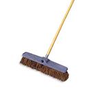 "Rubbermaid FG9B1800 BRN 24"" Floor Sweep - Heavy-Duty, Plastic/Palmyra, Brown"
