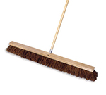 "Rubbermaid FG9B2000 BRN 36"" Floor Sweep - Heavy-Duty, Hardwood/Palmyra, Brown"
