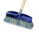 "Rubbermaid FG9B3700 GRAY 10"" Wash Brush - Plastic Block, Flagged Synthetic Fill, Gray"