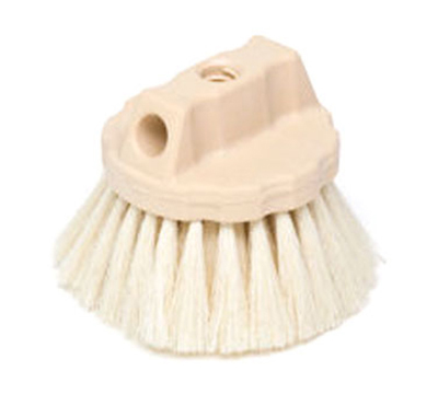 "Rubbermaid FG9B3900 YEL 5"" Wash Brush - Round Block, Tampico Fill, Yellow"