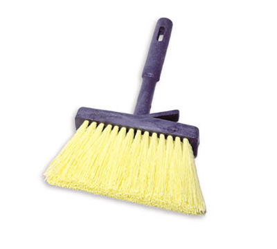 "Rubbermaid FG9B5000 YEL 11"" Masonry Brush - Plastic Handle, Synthetic Fill, Yellow"