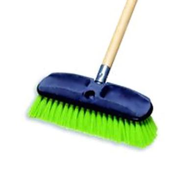 """Rubbermaid FG9B7200 GRN 10"""" Wash Brush - Plastic Block, Nylon Fill, Green"""