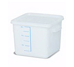 Rubbermaid FG9F0500 WHT 6-qt Square Storage Container - Poly White