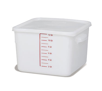 Rubbermaid FG9F0700 WHT 12-qt Square Storage Container - Poly White