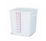 Rubbermaid FG9F0900 WHT 20-qt Square Storage Container - Poly White