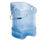 Rubbermaid FG9F5300TBLUE Square Ice Tote w/ 5.5-gal Capacity, Blue