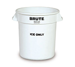 """Rubbermaid FG9F8600 WHT 10-gal BRUTE """"Ice Only"""" Container - White"""