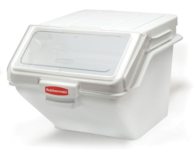 "Rubbermaid FG9G5800 WHT ProSave Safety Storage Bin with Scoop - 200-cup Capacity, 23.5x19.15x16.8"" White"