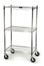 "Rubbermaid FG9G5900 CHRM Safety Storage Cart - 200-cup Bin Capacity, 18x26x47-3/4"" Chrome"