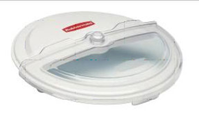 "Rubbermaid FG9G7800 WHT 23-1/2"" ProSave Sliding BRUTE Container Lid - Clear/White"