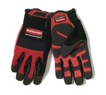 Rubbermaid FG9H0000 RED Heavy Duty Cleaning & Maintenance Gloves, Large, Padded Knuckles, Red