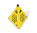 "Rubbermaid FG9S0100 YEL 30"" Wet Floor Safety Cone - Pop-Up, Yellow"