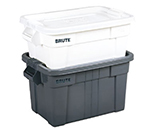 Rubbermaid FG9S3100 GRAY 20-gal BRUTE Tote with Lid - Gray