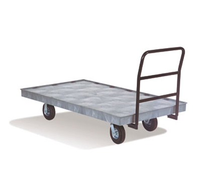 "Rubbermaid FG9T2100 BLA Heavy-Duty Platform Truck - 2000-lb Capacity, 8"" Castors, Black"